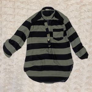 Striped Blouse Size Small